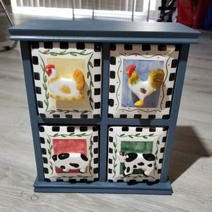 4 Drawer Farmhouse Style Storage Organizer!